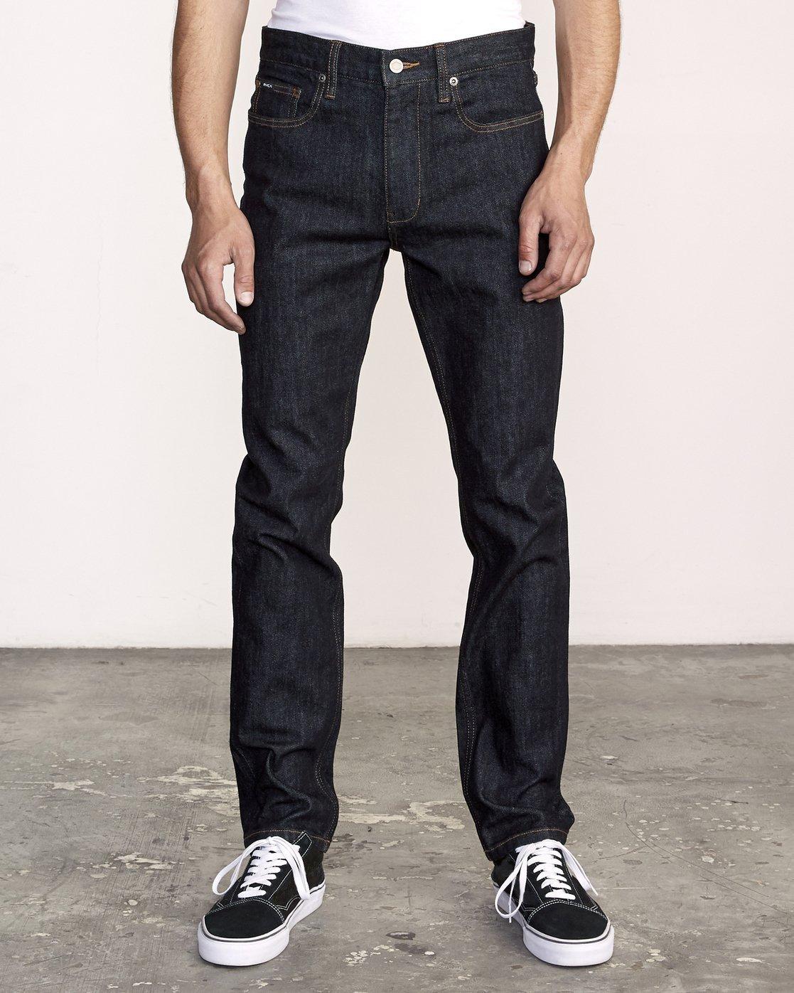 0 Hexed Slim Fit Jeans Blue M328VRHD RVCA