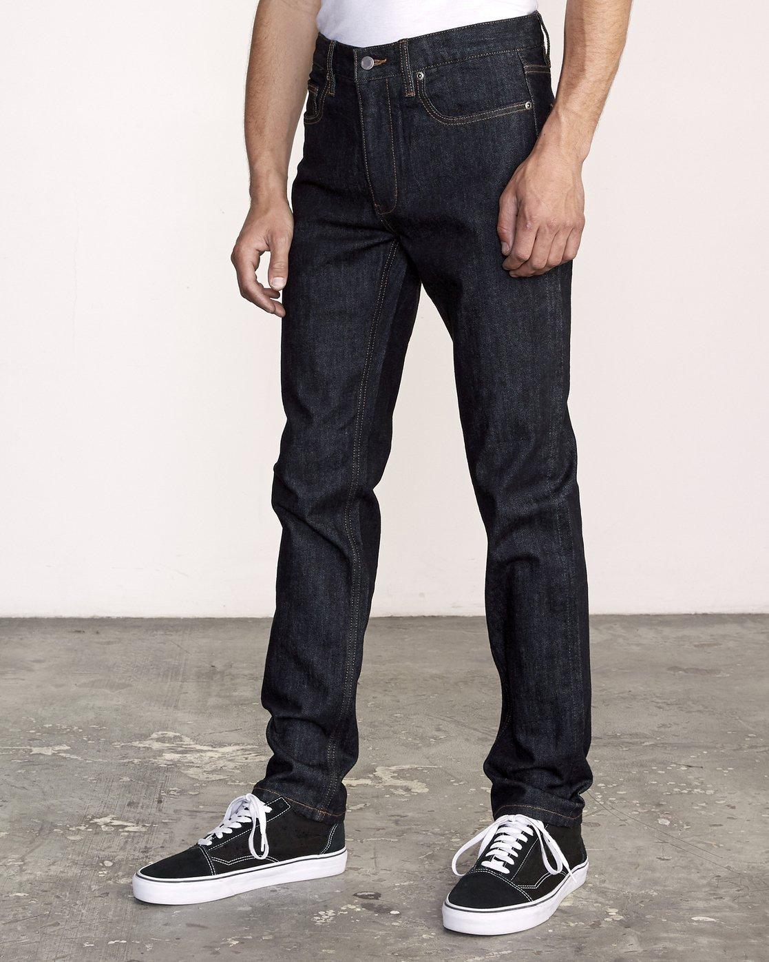 1 Hexed Slim Fit Jeans Blue M328VRHD RVCA