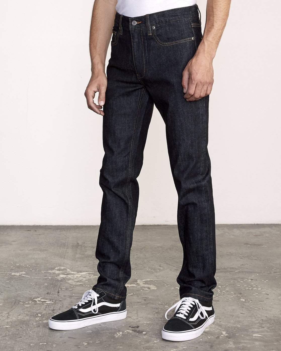 2 Hexed Slim Fit Jeans Blue M328VRHD RVCA