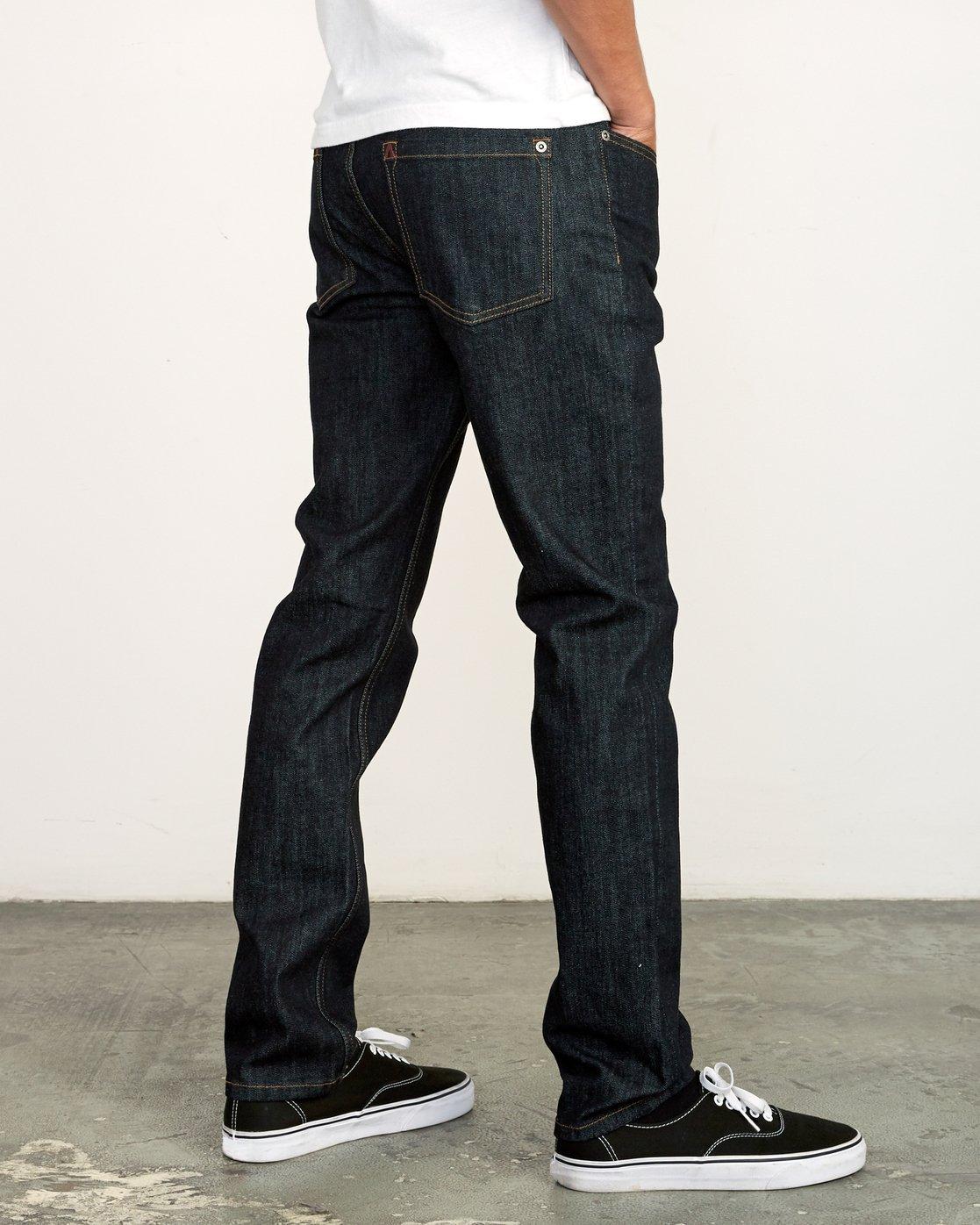 4 Hexed Slim Fit Jeans Blue M328VRHD RVCA