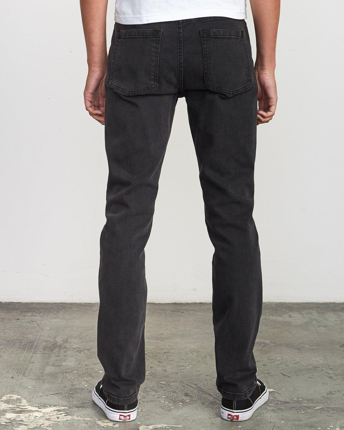 4 Hexed Slim Fit Jeans Black M328VRHD RVCA