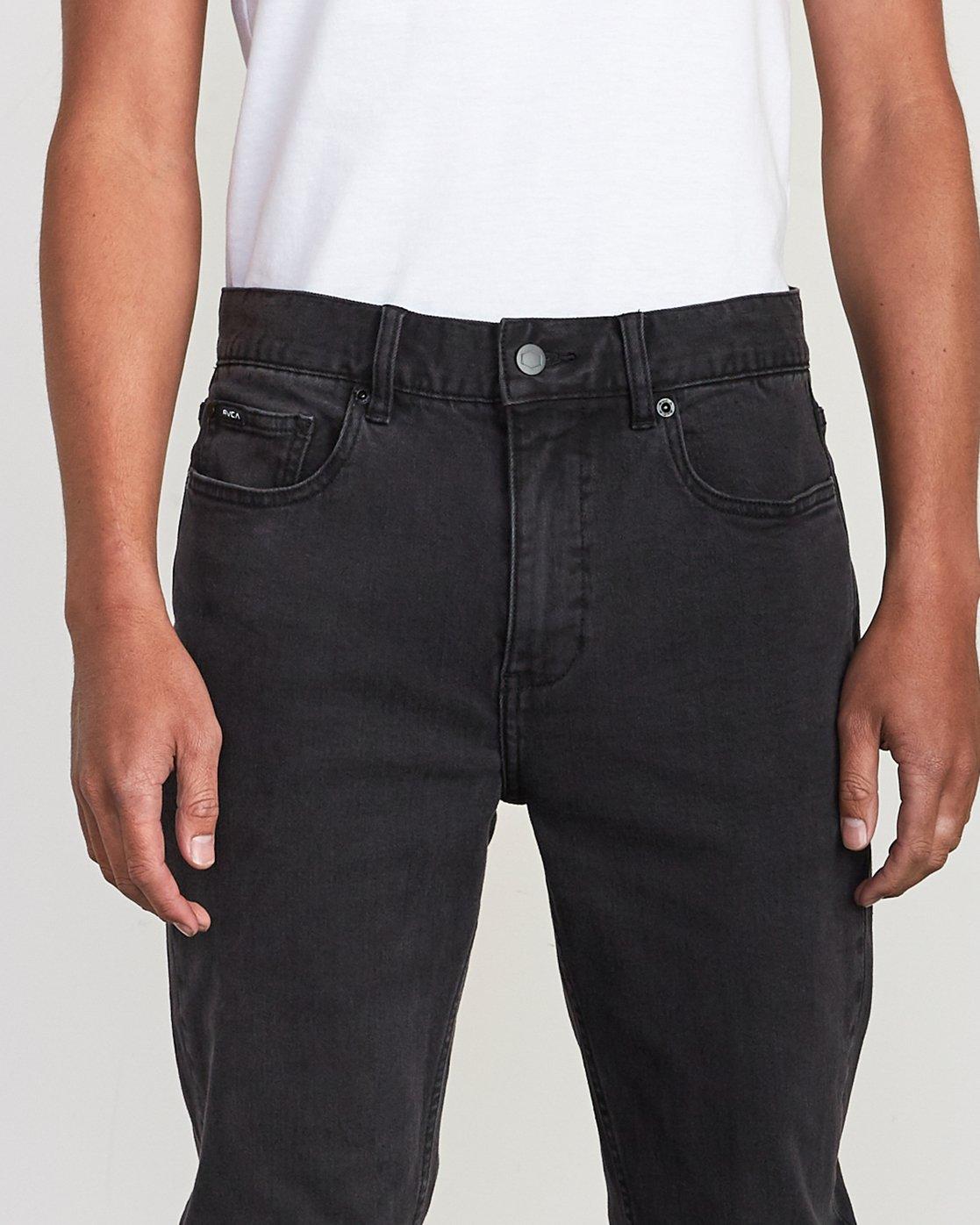 7 Hexed Slim Fit Jeans Black M328VRHD RVCA