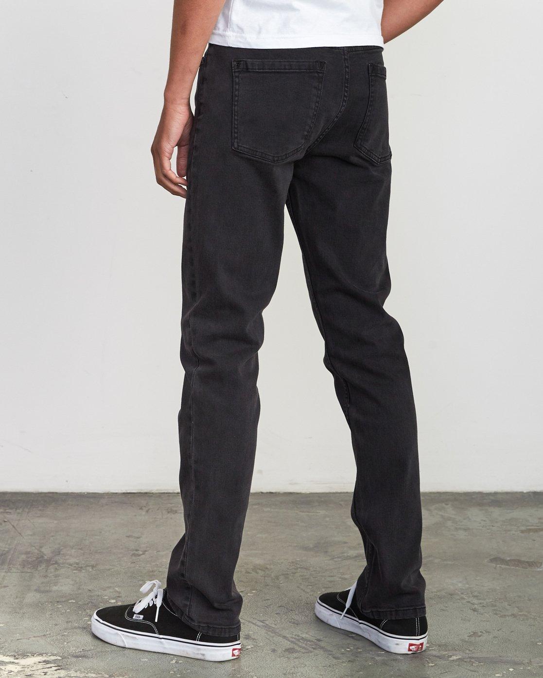 3 Hexed Slim Fit Jeans Black M328VRHD RVCA