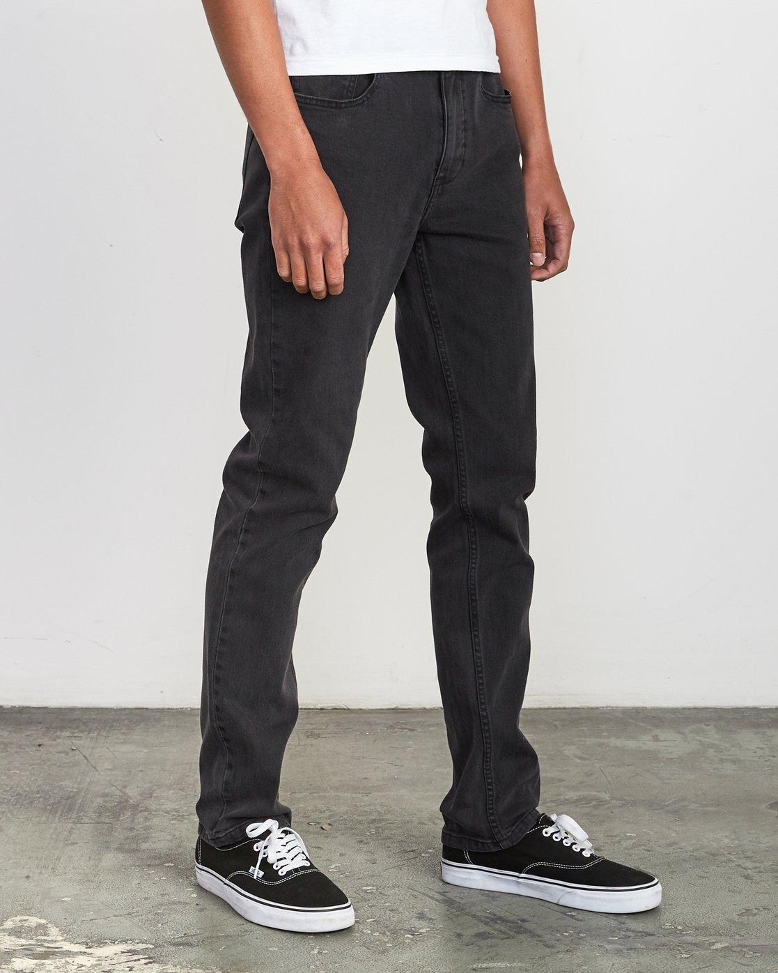 6 Hexed Slim Fit Jeans Black M328VRHD RVCA