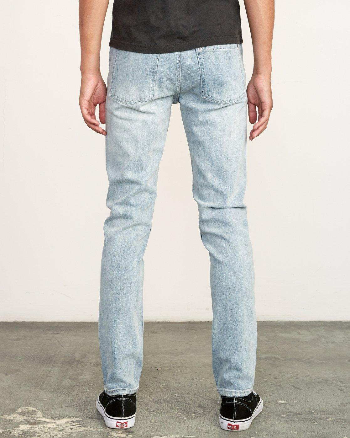 4 RVCA Rockers Skinny Jeans Beige M329VRRD RVCA