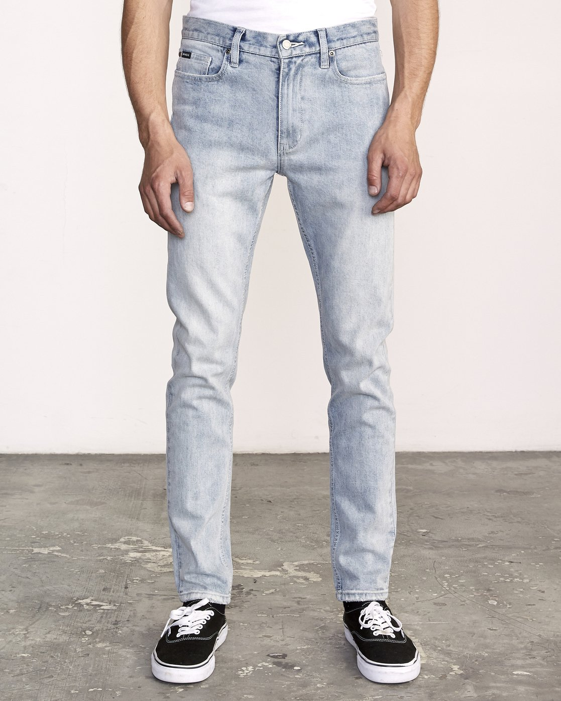0 RVCA Rockers Skinny Jeans Beige M329VRRD RVCA