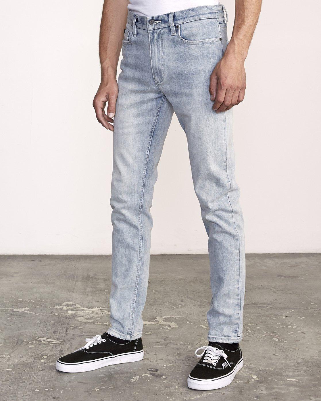 1 RVCA Rockers Skinny Jeans Beige M329VRRD RVCA