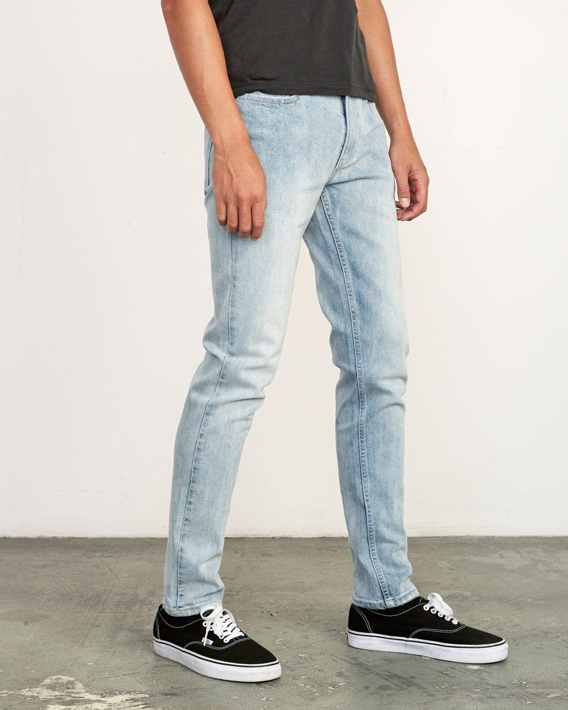 6 RVCA Rockers Skinny Jeans Beige M329VRRD RVCA