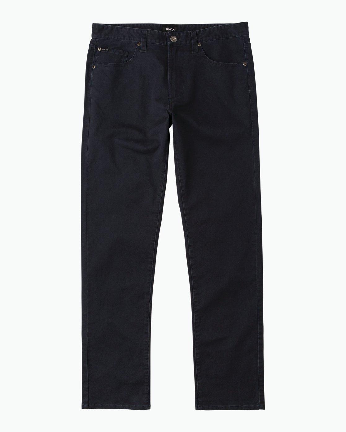 6 Daggers Slim-Straight Twill Pants Blue M3301DAG RVCA