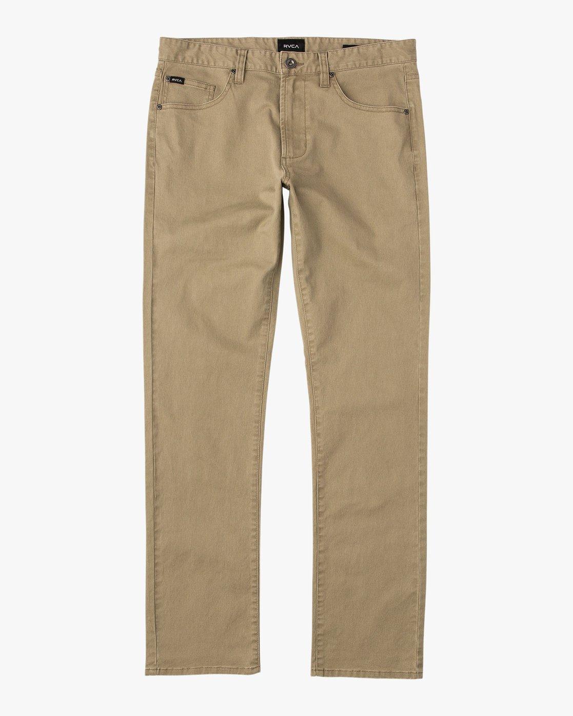 6 Daggers Slim-Straight Twill Pants White M3301DAG RVCA