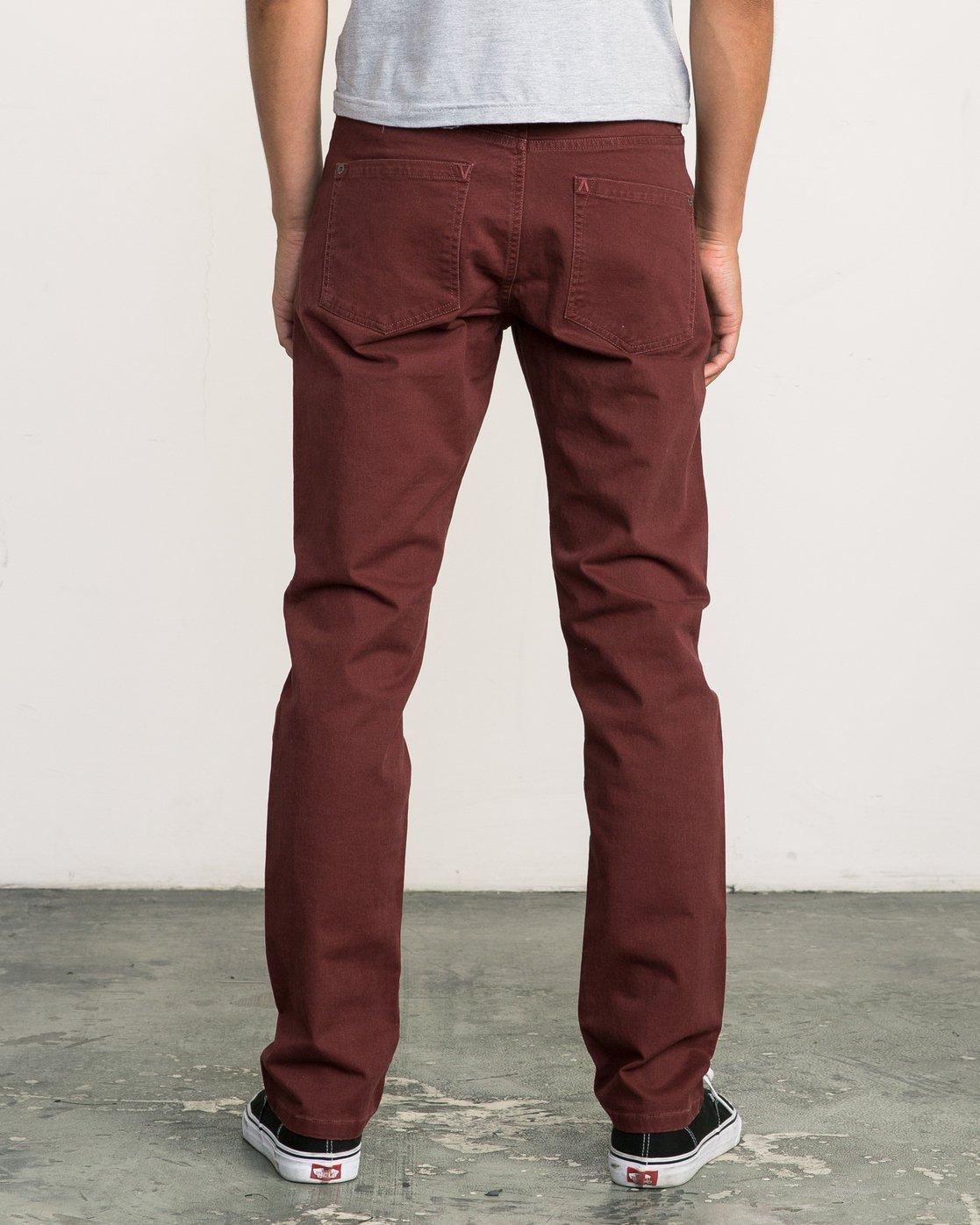 3 Daggers Slim-Straight Twill Pants Red M3301DAG RVCA