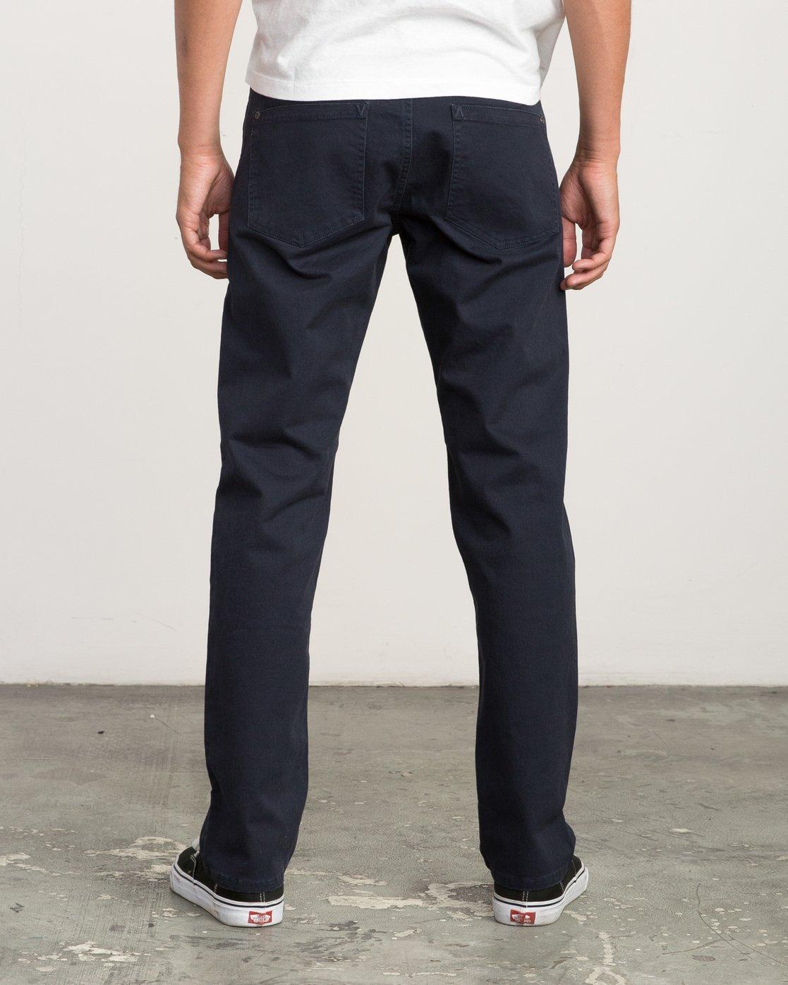 3 Daggers Slim-Straight Twill Pants Blue M3301DAG RVCA