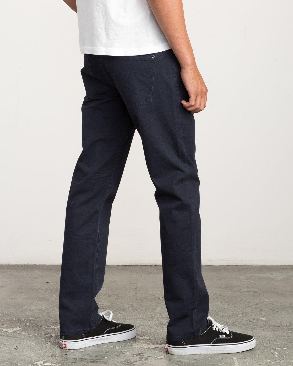 4 Daggers Slim-Straight Twill Pants Blue M3301DAG RVCA