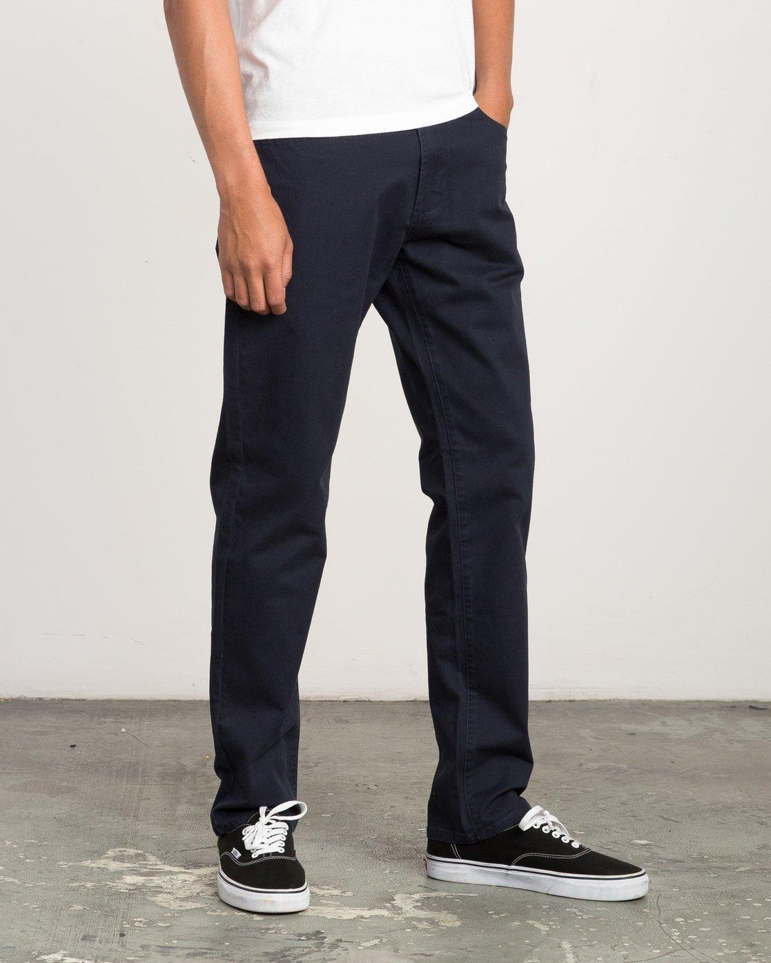 5 Daggers Slim-Straight Twill Pants Blue M3301DAG RVCA