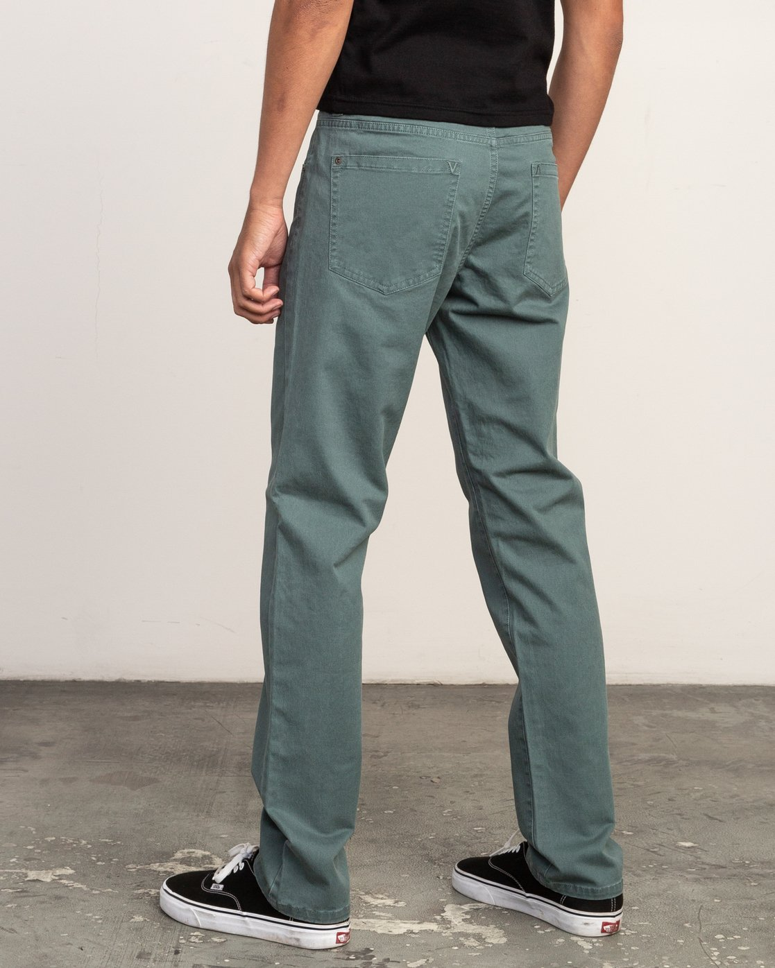 2 Daggers Slim-Straight Twill Pants Green M3301DAG RVCA
