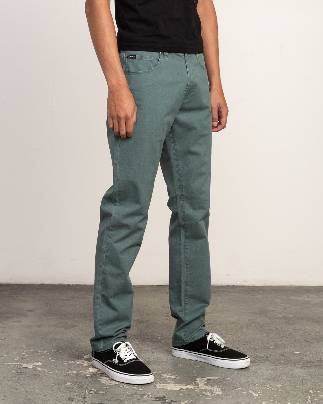 5 Daggers Slim-Straight Twill Pants Green M3301DAG RVCA