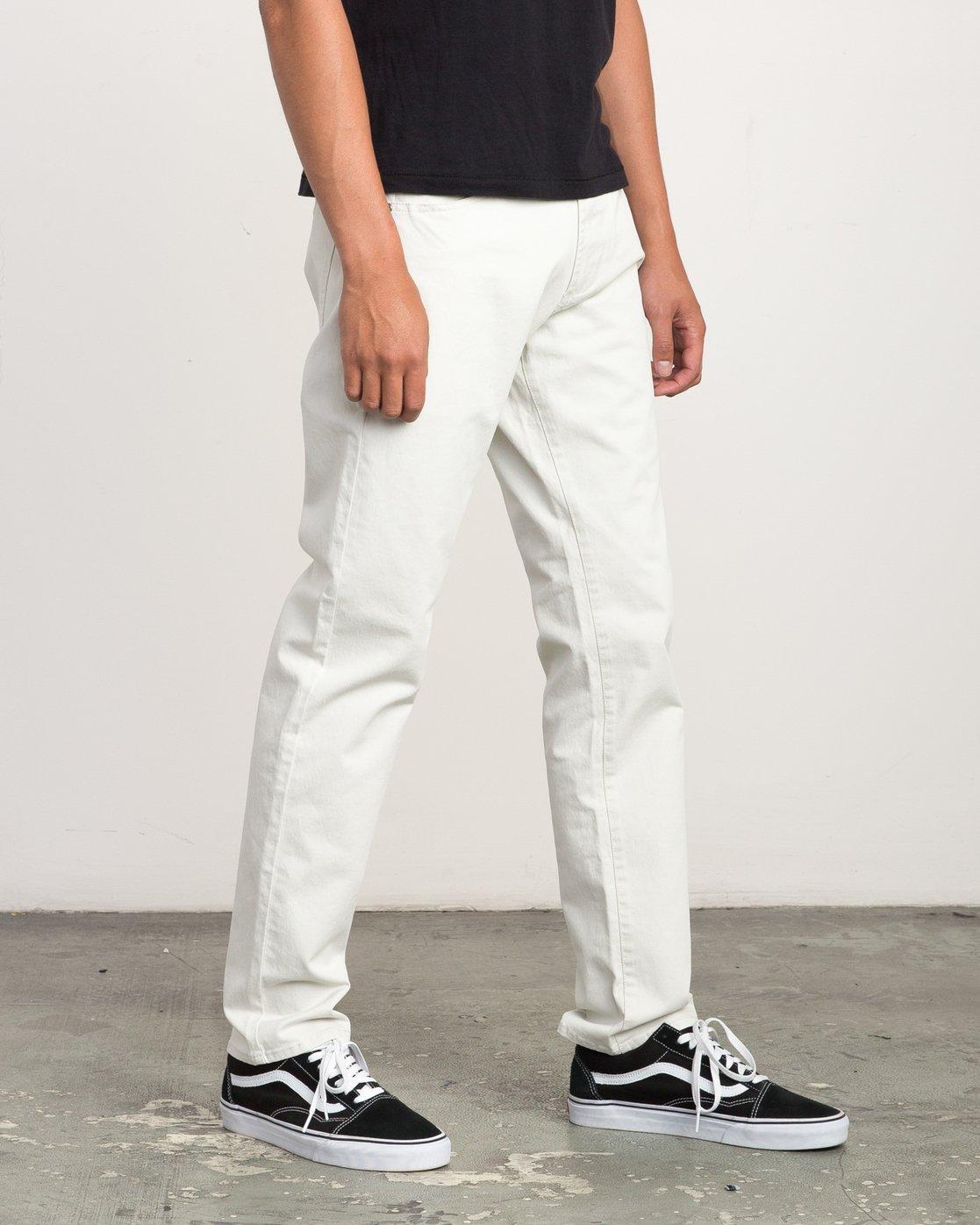 5 Daggers Slim-Straight Twill Pants Silver M3301DAG RVCA