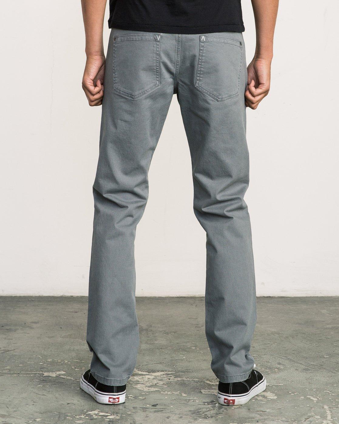 3 Daggers Slim-Straight Twill Pants Grey M3301DAG RVCA