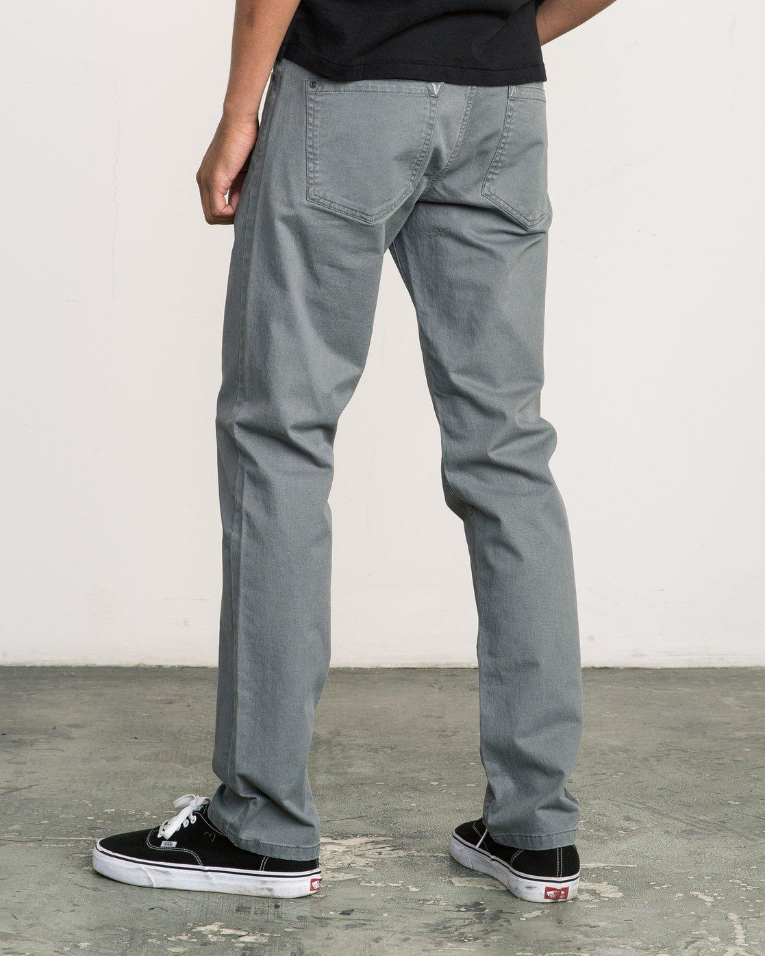 2 Daggers Slim-Straight Twill Pants Grey M3301DAG RVCA