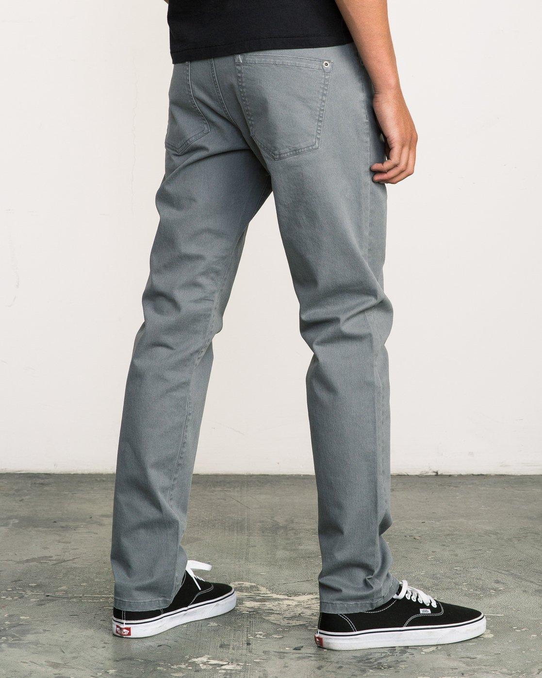 4 Daggers Slim-Straight Twill Pants Grey M3301DAG RVCA