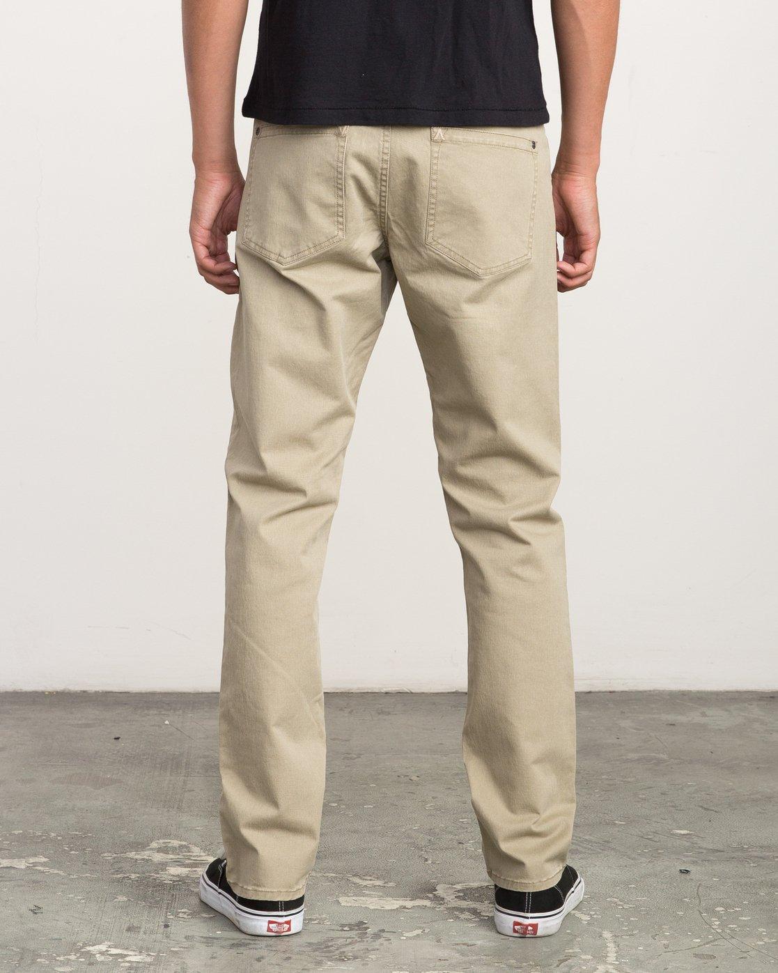 3 Daggers Slim-Straight Twill Pants White M3301DAG RVCA