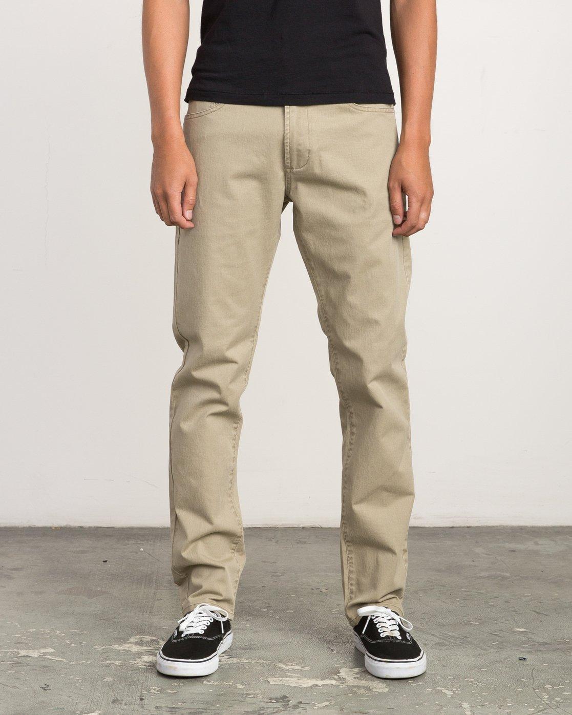 0 Daggers Slim-Straight Twill Pants White M3301DAG RVCA