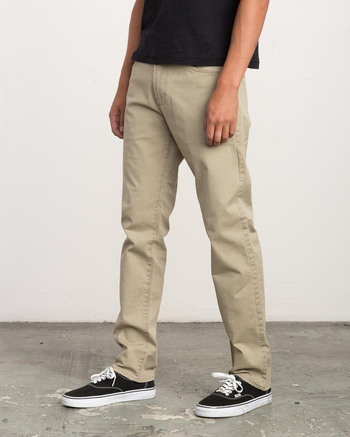 1 Daggers Slim-Straight Twill Pants White M3301DAG RVCA