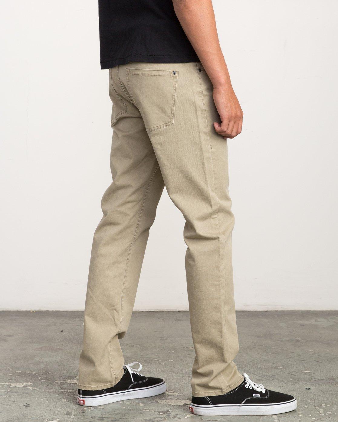 4 Daggers Slim-Straight Twill Pants White M3301DAG RVCA