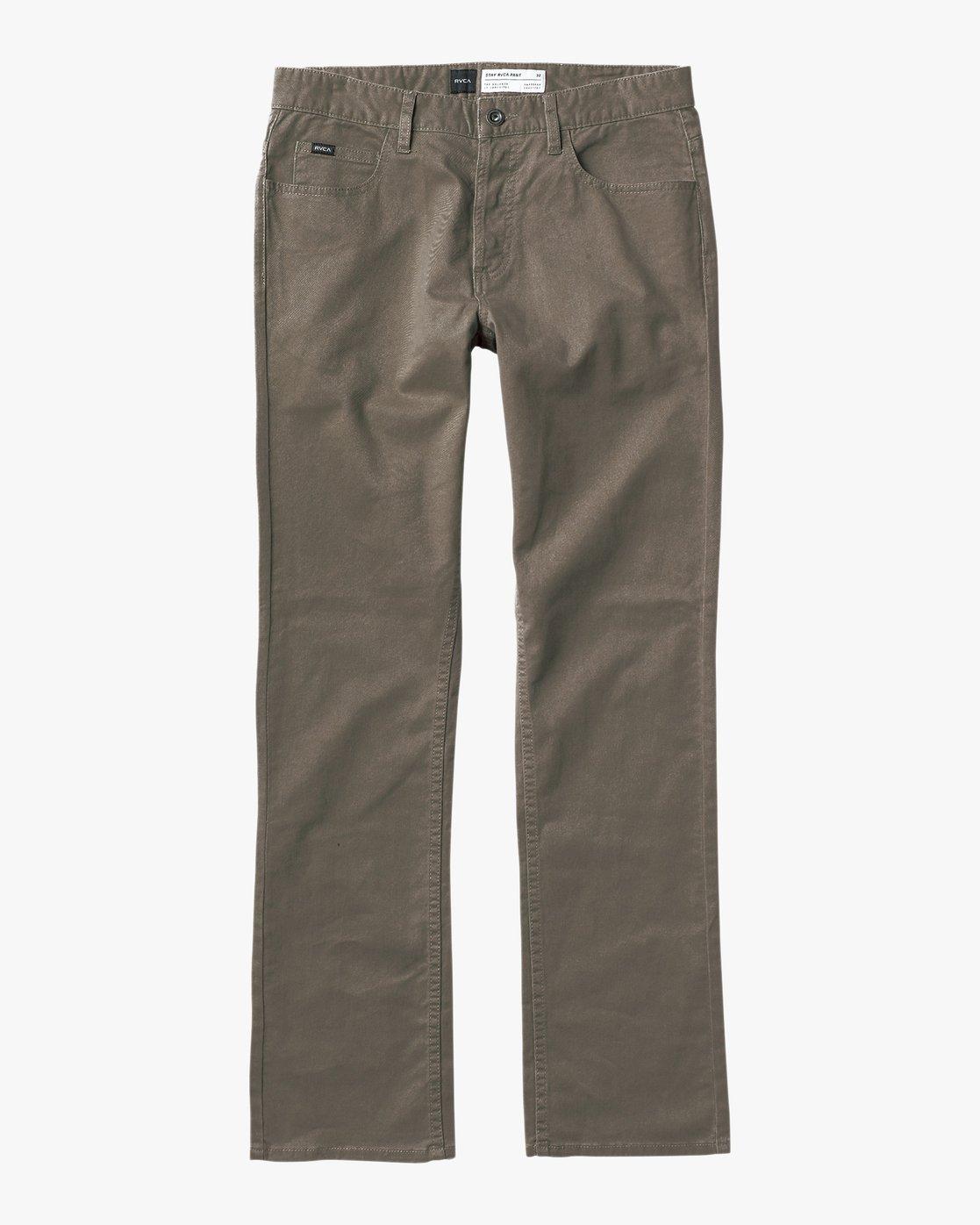4 Stay RVCA Straight Fit Pants Green M3306SRP RVCA