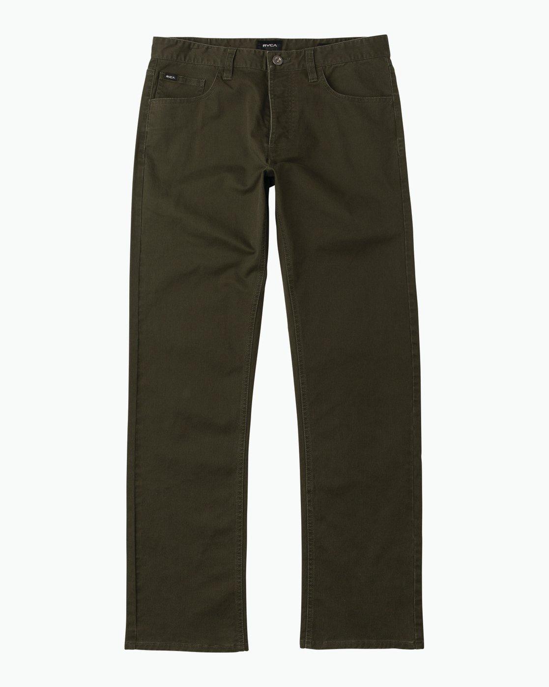 6 Stay RVCA Straight Fit Pants Camo M3306SRP RVCA