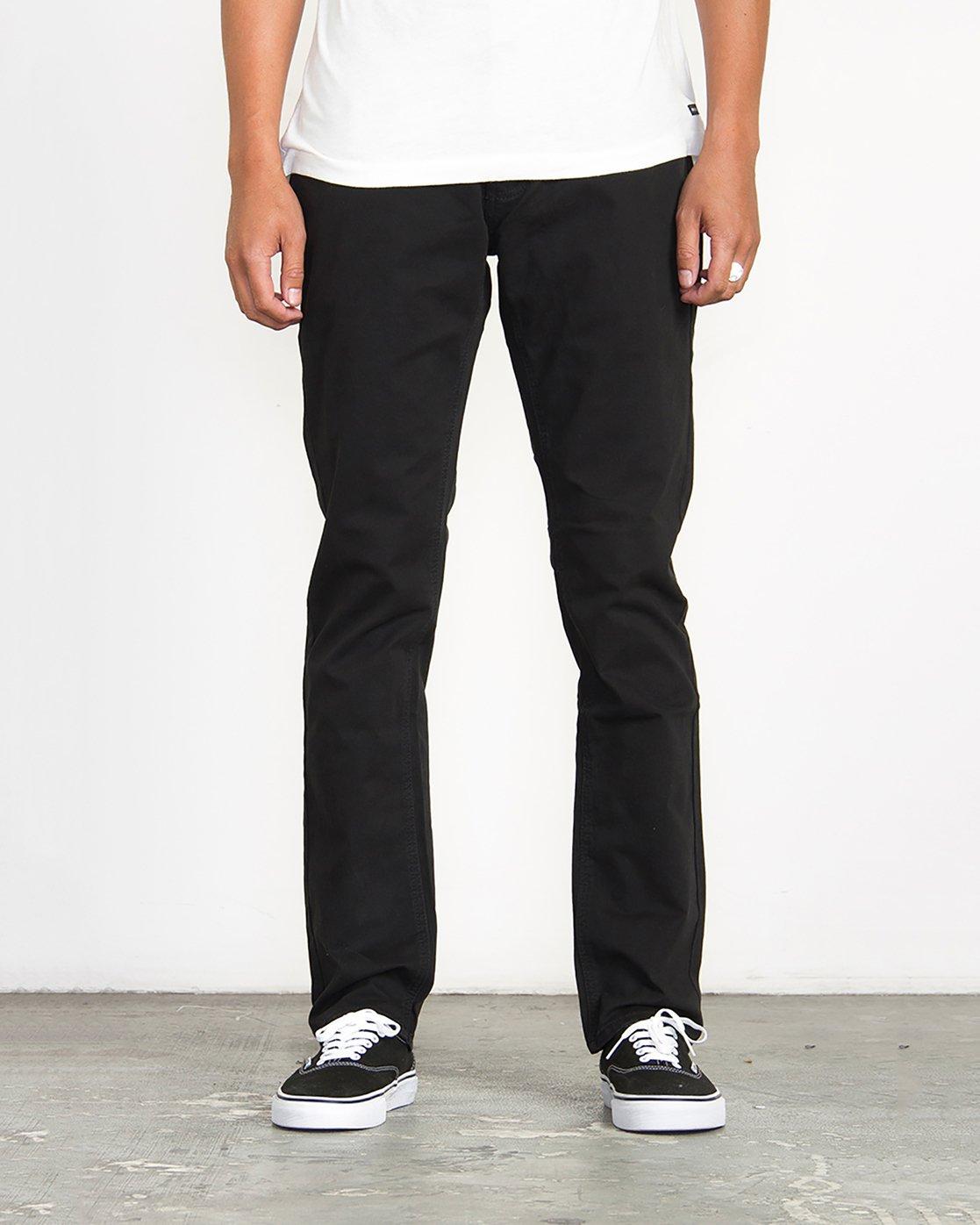 0 Stay RVCA Straight Fit Pants Black M3306SRP RVCA
