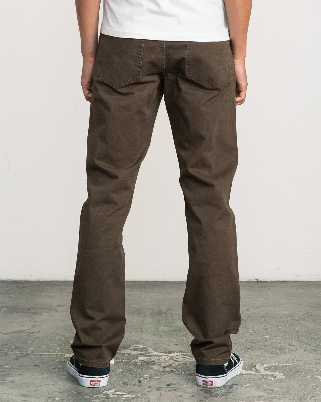 1 Stay RVCA Straight Fit Pants Brown M3306SRP RVCA