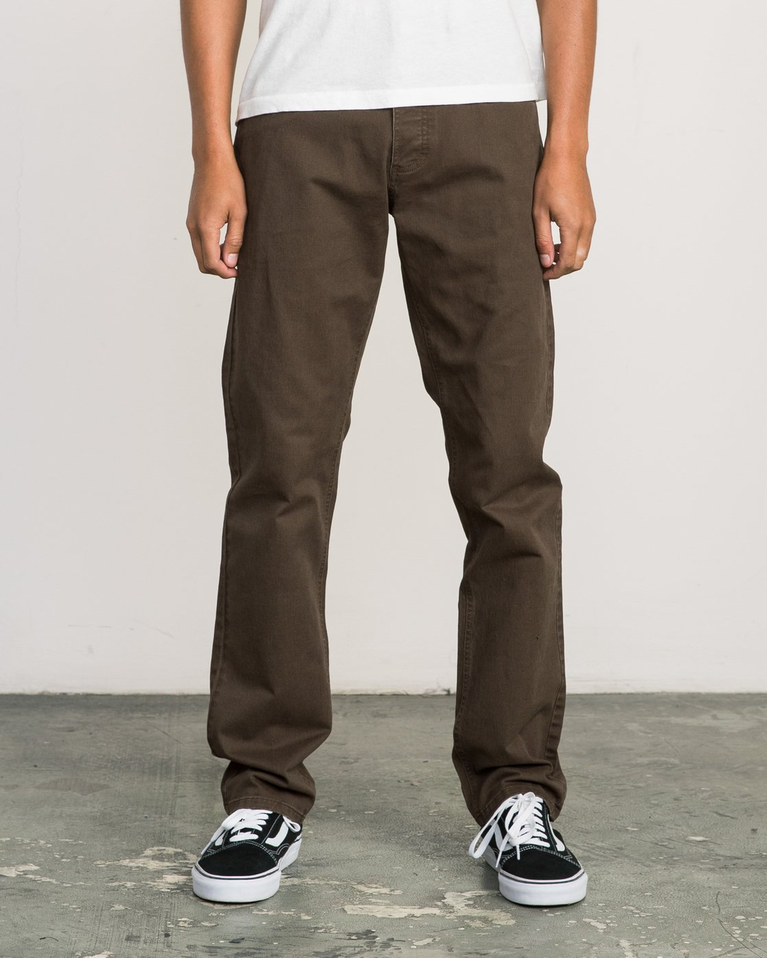 0 Stay RVCA Straight Fit Pants Brown M3306SRP RVCA