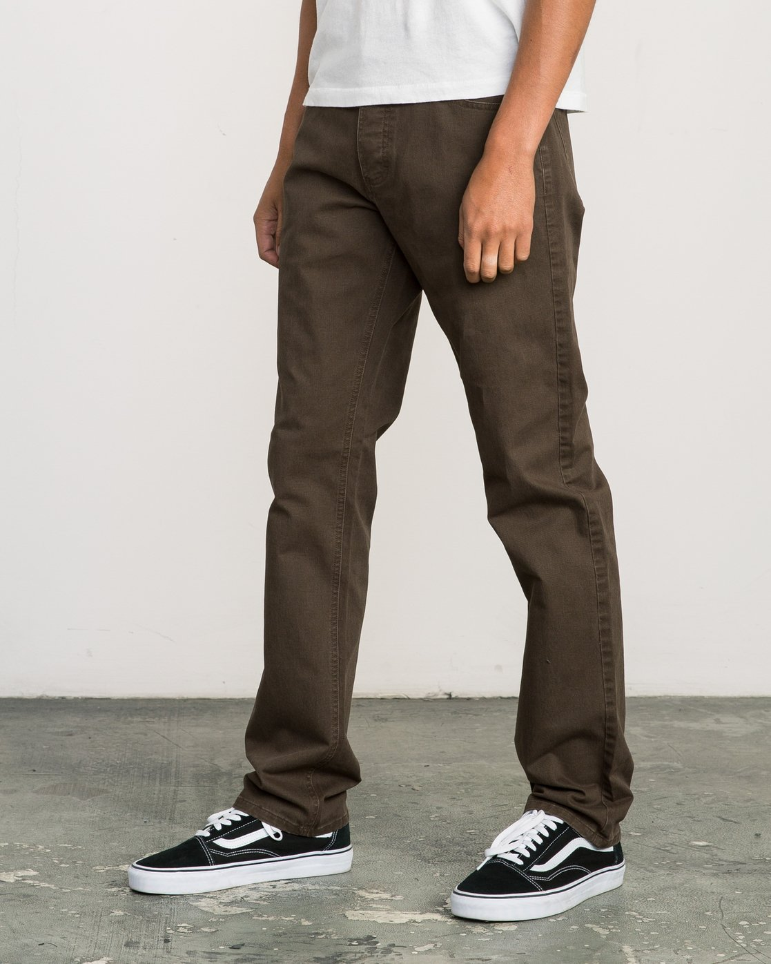 2 Stay RVCA Straight Fit Pants Brown M3306SRP RVCA
