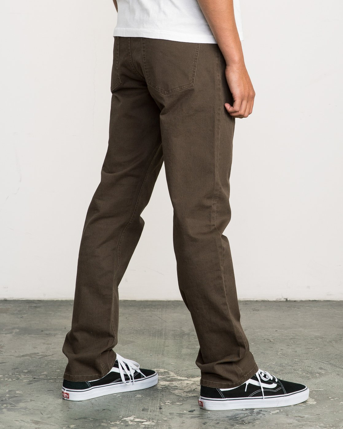 4 Stay RVCA Straight Fit Pants Brown M3306SRP RVCA