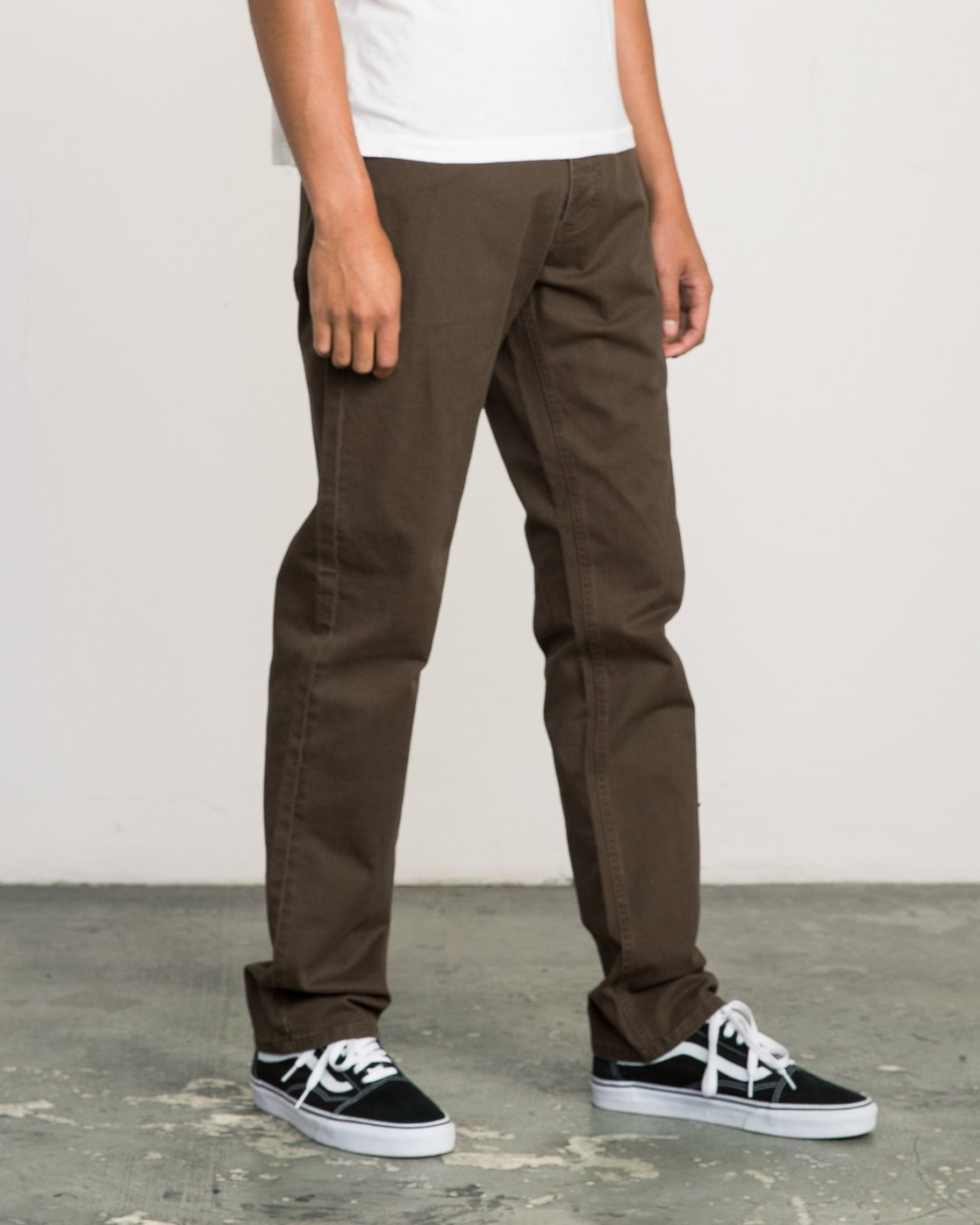 5 Stay RVCA Straight Fit Pants Brown M3306SRP RVCA