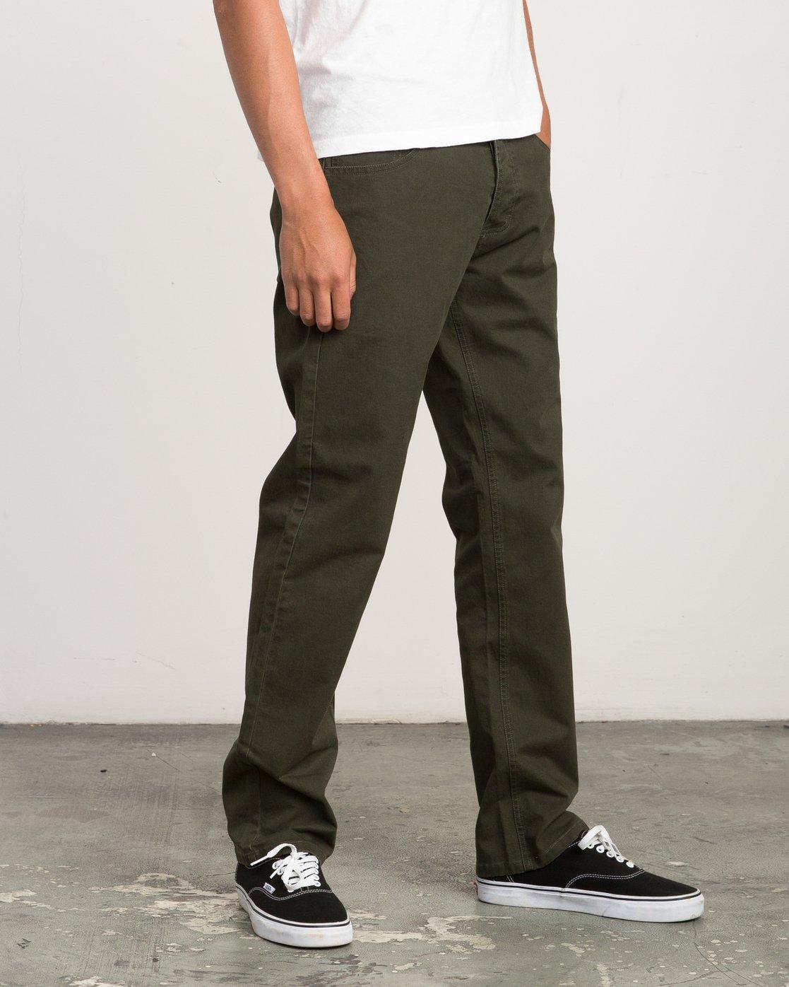 5 Stay RVCA Straight Fit Pants Camo M3306SRP RVCA