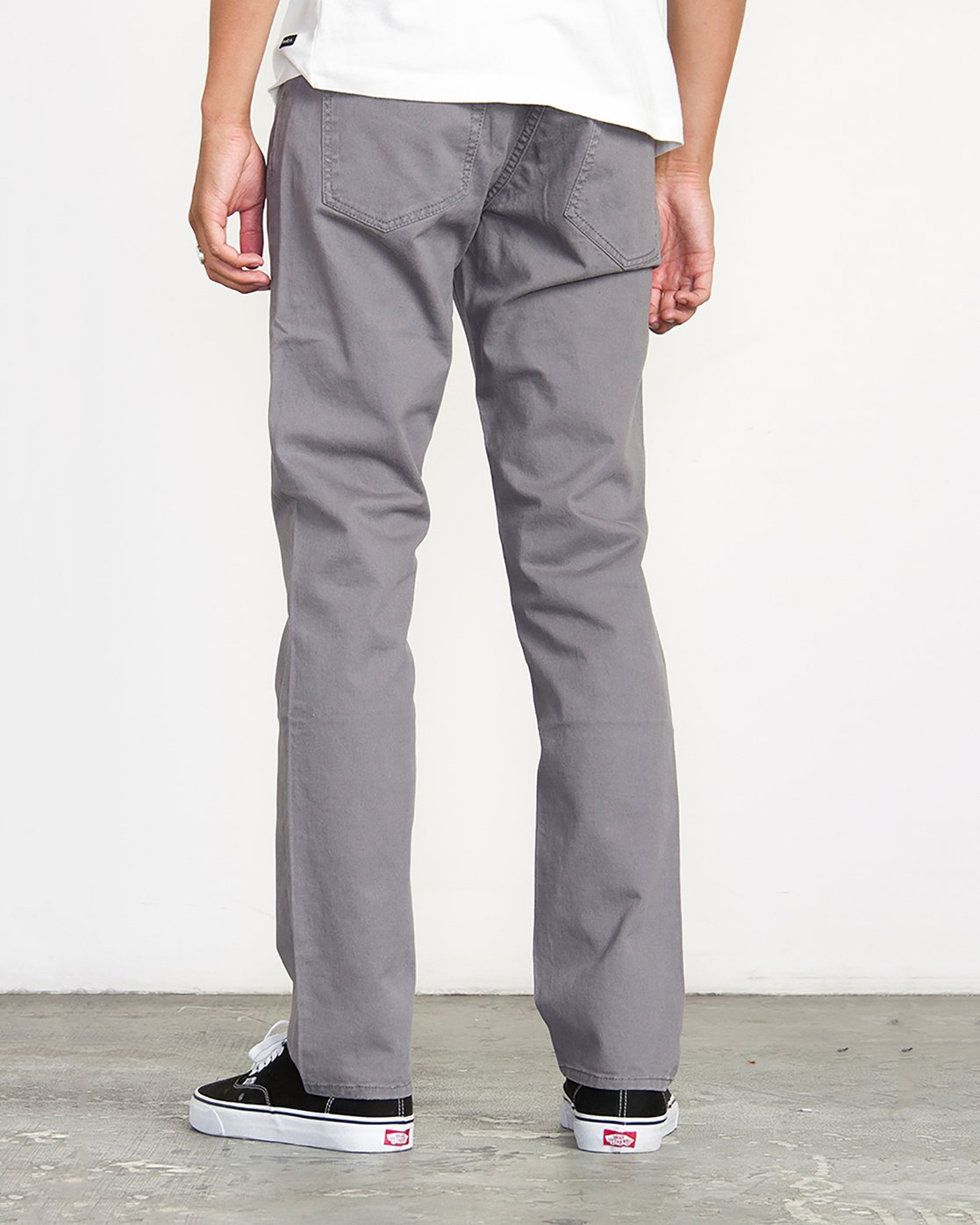 2 Stay RVCA Straight Fit Pants Grey M3306SRP RVCA
