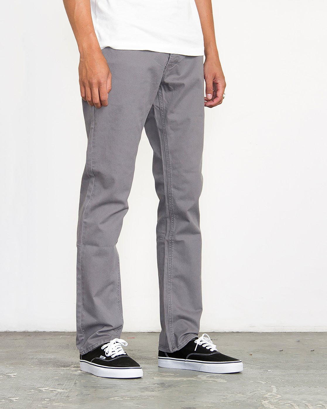 4 Stay RVCA Straight Fit Pants Grey M3306SRP RVCA