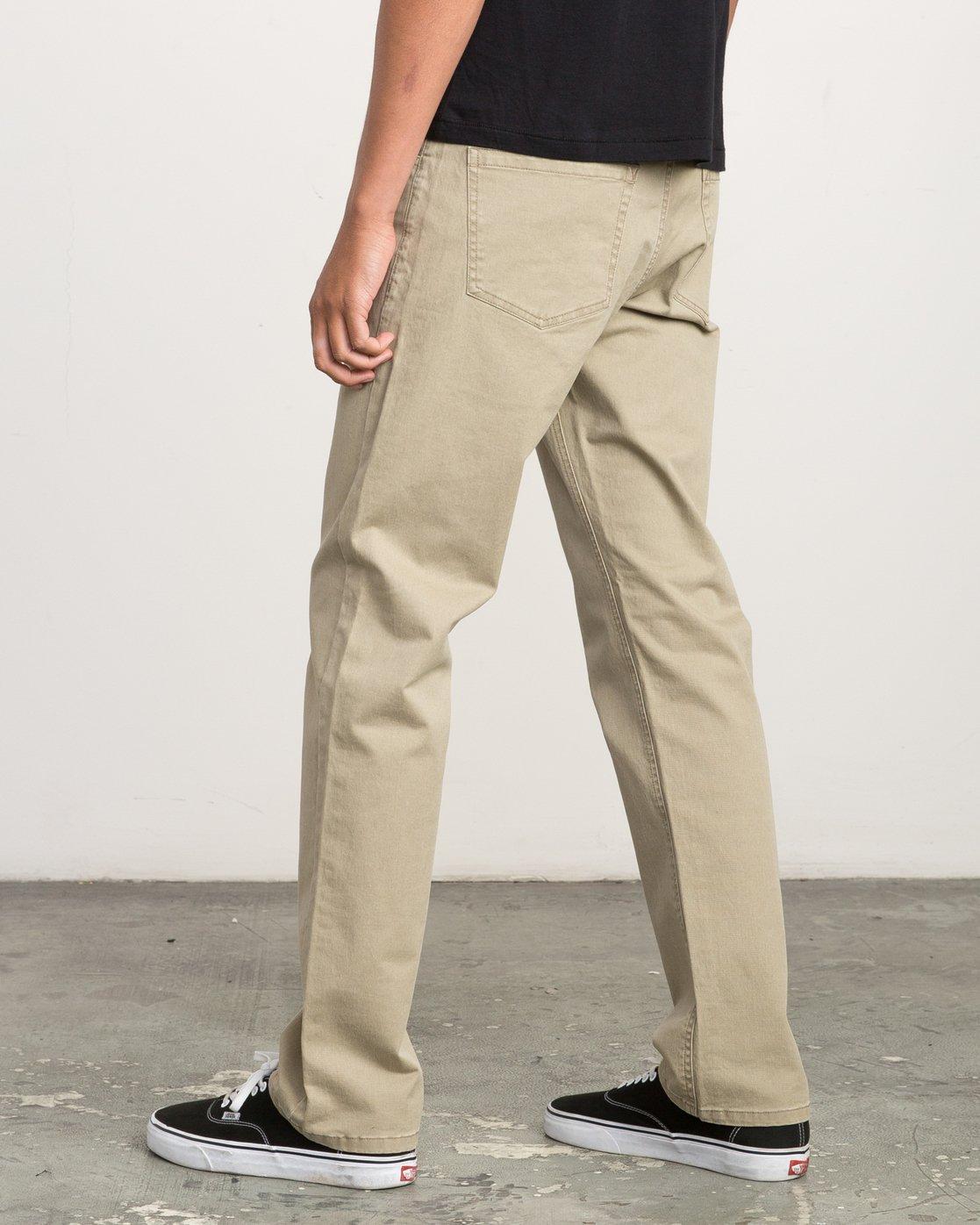 2 Stay RVCA Straight Fit Pants Beige M3306SRP RVCA