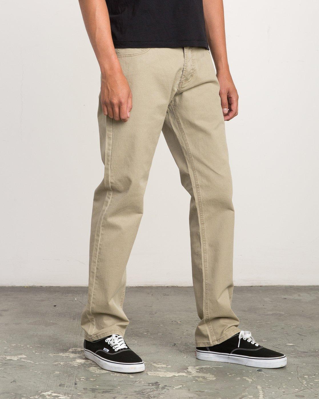 5 Stay RVCA Straight Fit Pants Beige M3306SRP RVCA