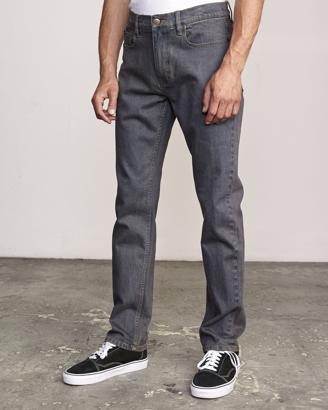 1 Daggers Pigment Dyed Slim Fit Denim Grey M330VRDP RVCA