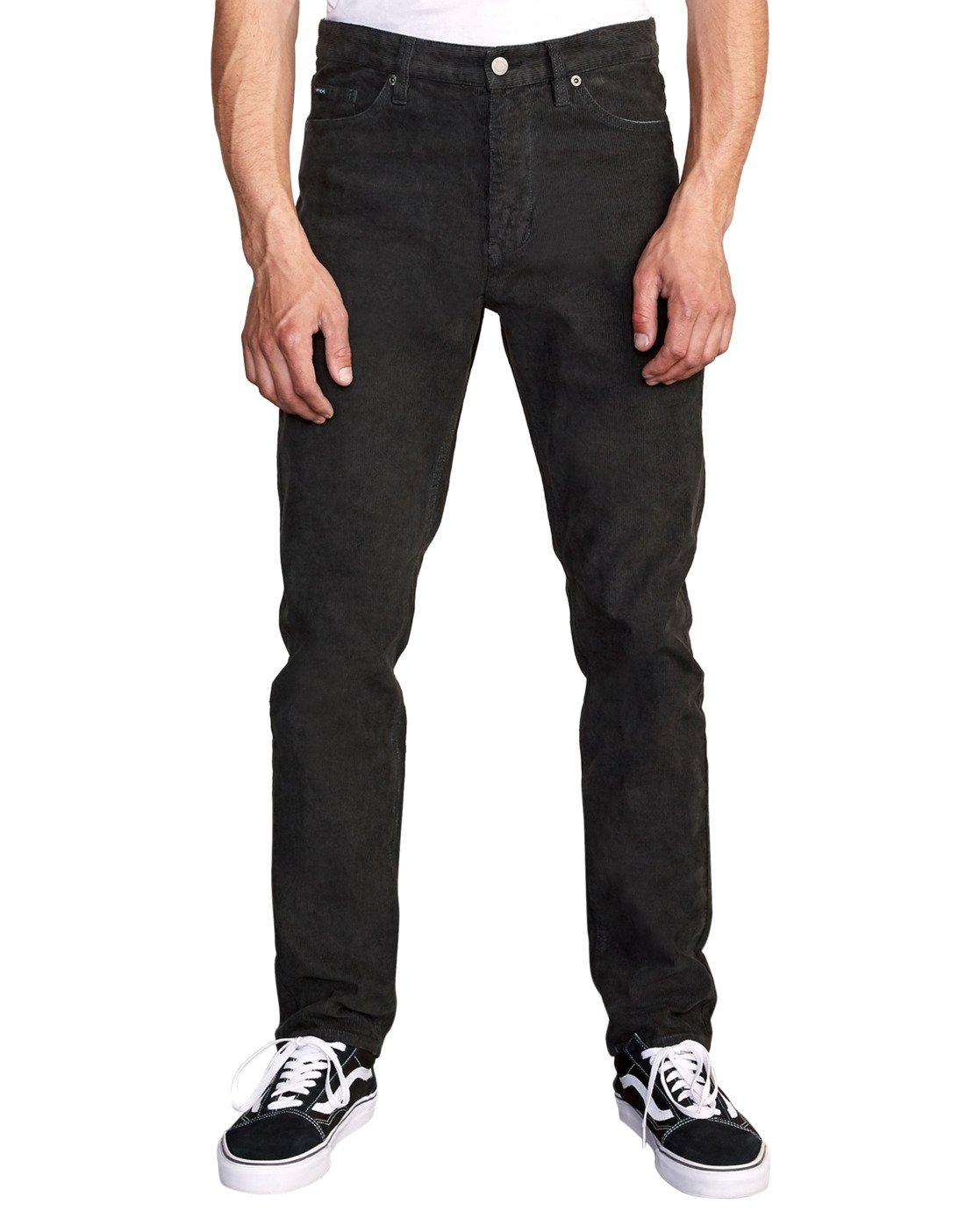 5 DAGGERS PGMNT CORD slim fit PANT Black M339VRDC RVCA