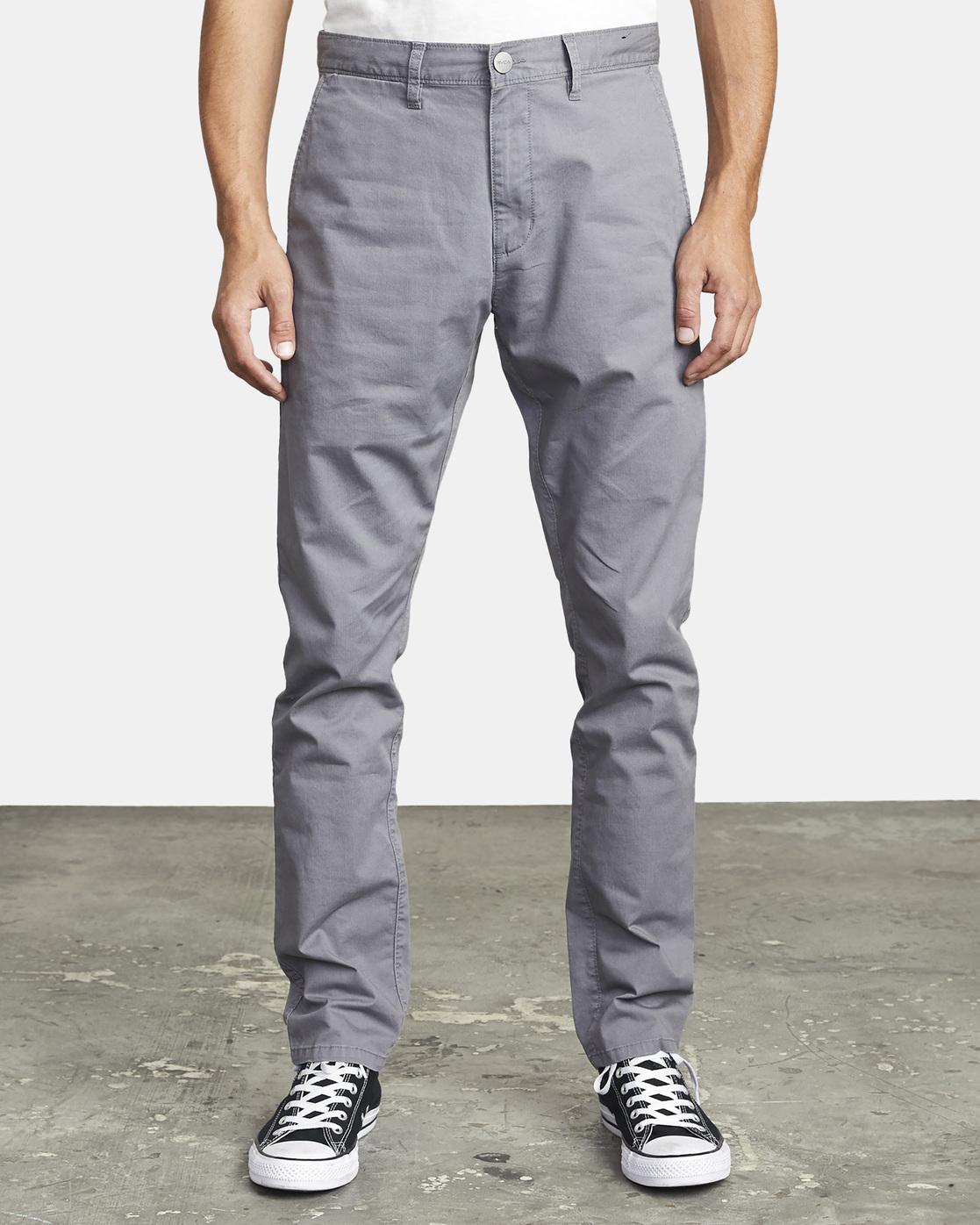 8 DAGGERS SLIM FIT CHINO pant Grey M3443RDC RVCA