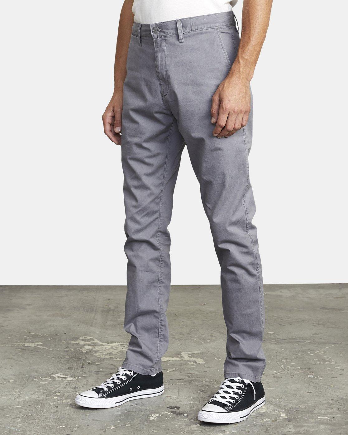 4 DAGGERS SLIM FIT CHINO pant Grey M3443RDC RVCA