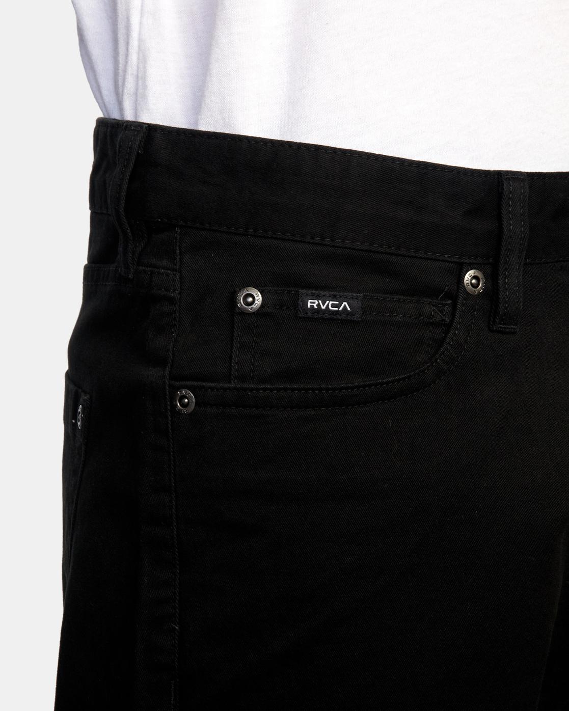 4 DAGGERS SLIM FIT TWILL PANT Black M3453RDT RVCA