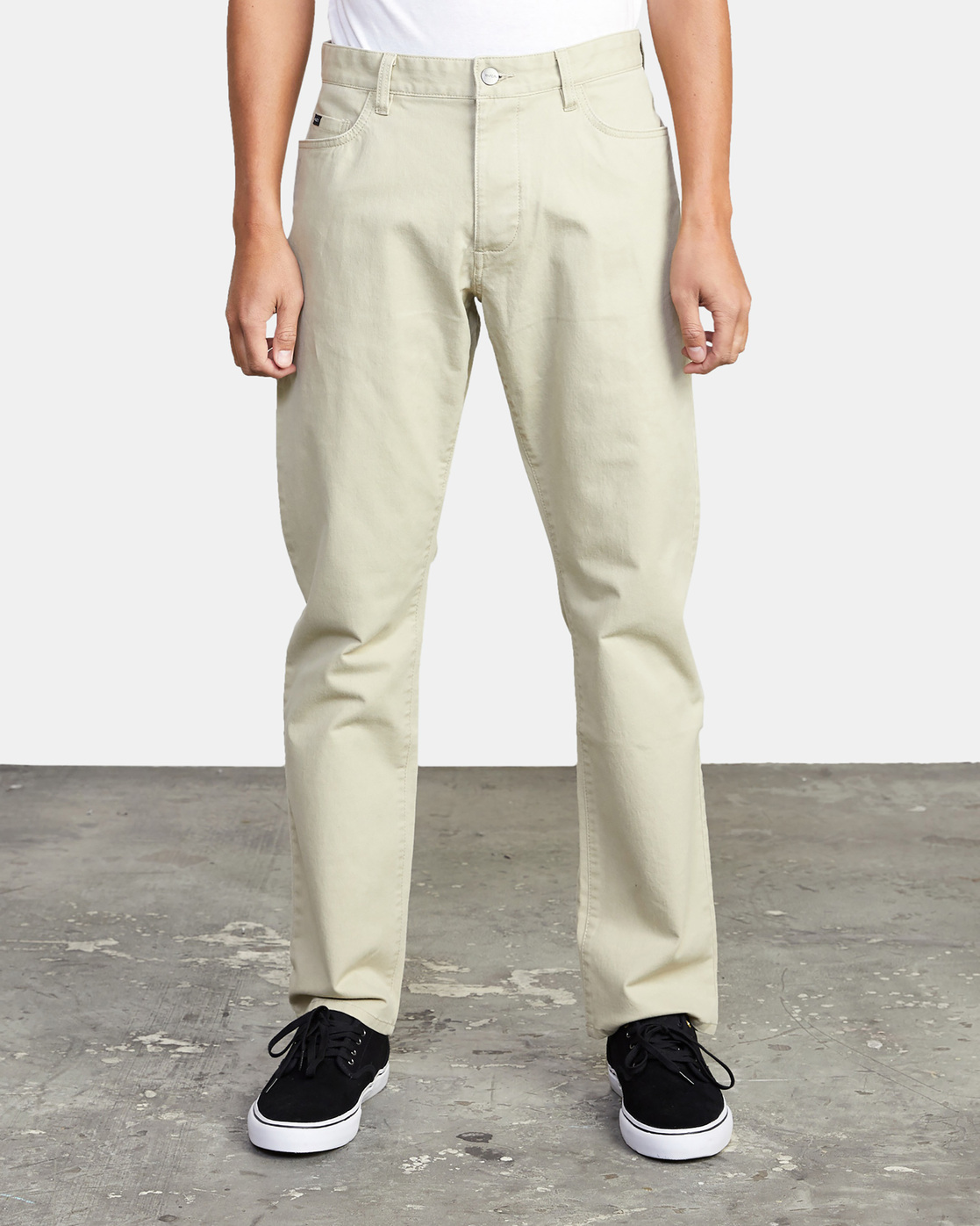 8 week-end TWILL STRAIGHT FIT PANT Beige M3483RWT RVCA