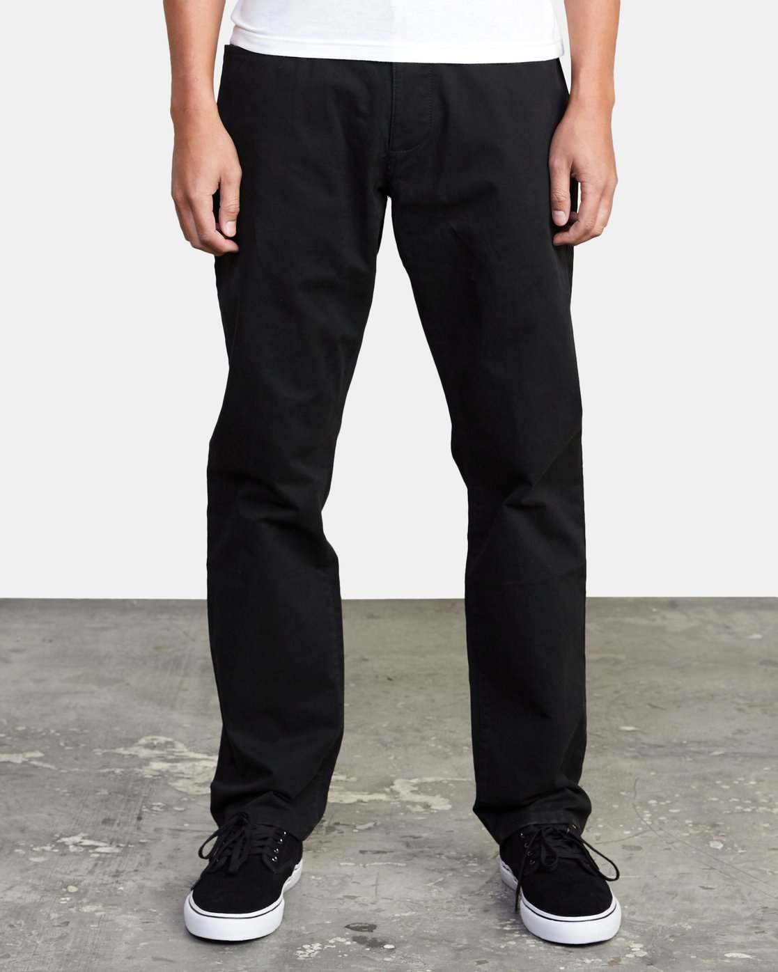 3 week-end TWILL STRAIGHT FIT PANT Black M3483RWT RVCA