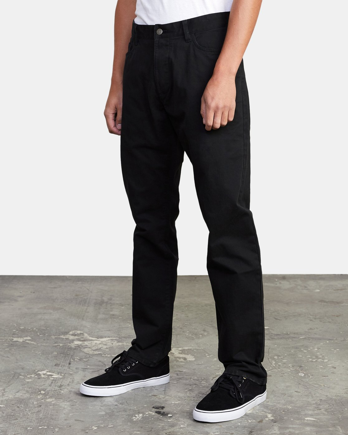 5 week-end TWILL STRAIGHT FIT PANT Black M3483RWT RVCA