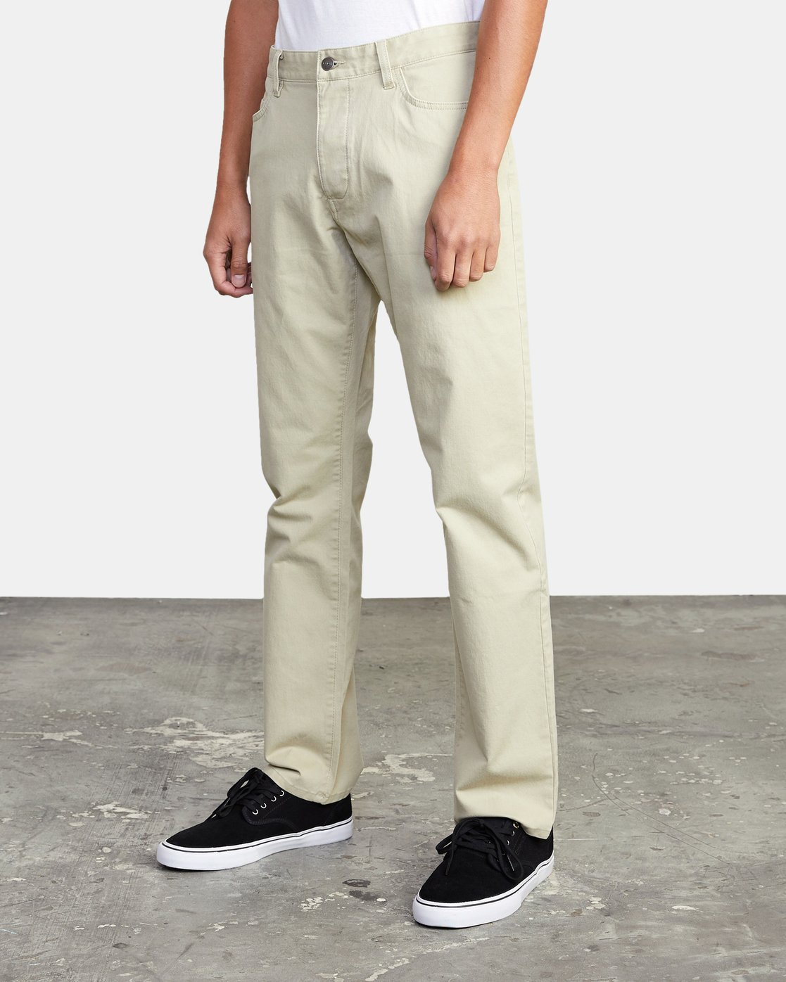4 week-end TWILL STRAIGHT FIT PANT Beige M3483RWT RVCA